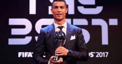 """Por segunda vez premio """"The Best"""" es para Cristiano Ronaldo"""