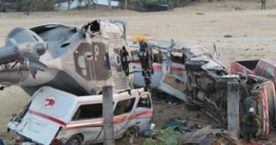 Accidente de Helicóptero en Oaxaca, deja 14 personas muertas