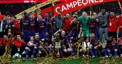 Por cuarta vez consecutiva, Barcelona gana Copa del Rey