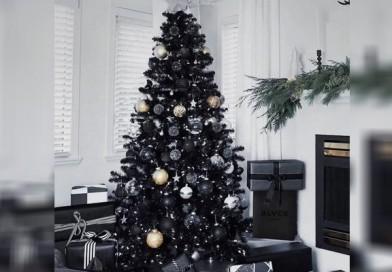 Árbol de Navidad negro nueva  tendencia 2019