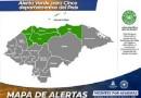 Alerta verde por 48 horas, para cinco departamentos de Honduras
